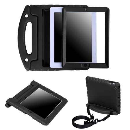 HDE Case for iPad 2 3 4 Heavy Duty Dual Layer Protective Cover with Built In Screen Protector and Adjustable Shoulder strap for Apple iPad 2nd 3rd 4th Generation -