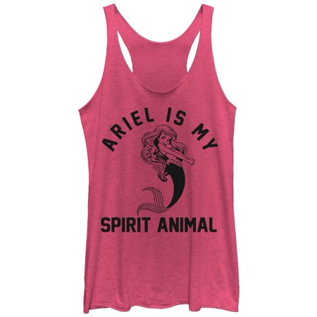 The Little Mermaid Women's Ariel Spirit Animal Racerback Tank Top