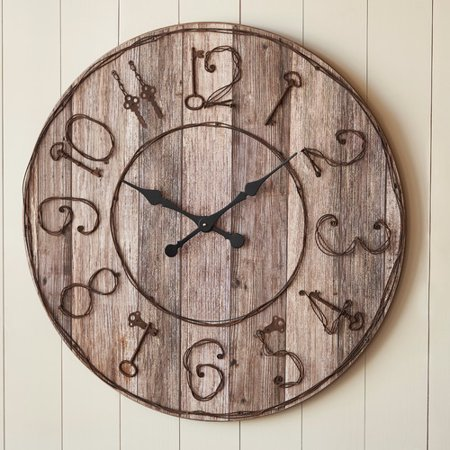 Park Designs Oversized 35 Wood Key Numbers Wall Clock