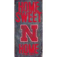 Nebraska Cornhuskers 6'' x 12'' Home Sweet Home Sign - No Size