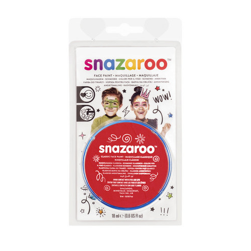 WINSOR & NEWTON / COLART 1119055 SNAZAROO FACE PAINT 18ML CLAM PACK BRIGHT RED