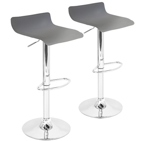 Fantastic Ale Contemporary Adjustable Barstool In Grey Pu Leather By Lumisource Set Of 2 Alphanode Cool Chair Designs And Ideas Alphanodeonline