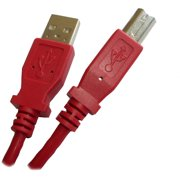 "Professional Cable 6' USB 2.0 Compliant ""A"" to ""B"" Printer Cable, Red"