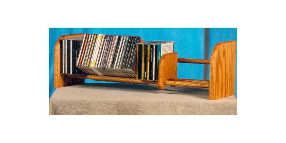 1 Row Dowel CD Rack (Honey Oak) by Woodshed