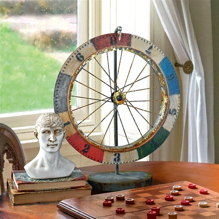 Carnival Game Wheel of Chance Metal Sculpture - Easy Halloween Carnival Games