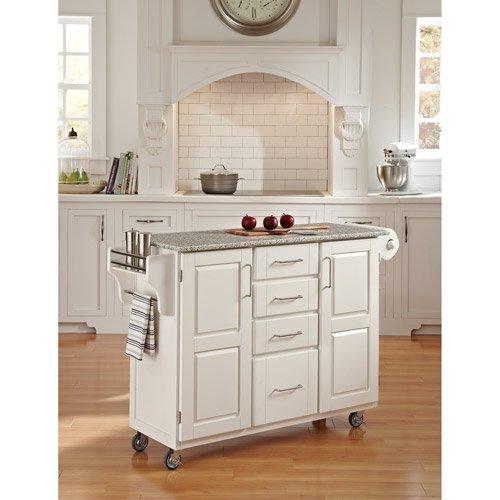 Walmart Kitchen Cart: Home Styles Large Kitchen Cart, White / Salt & Pepper