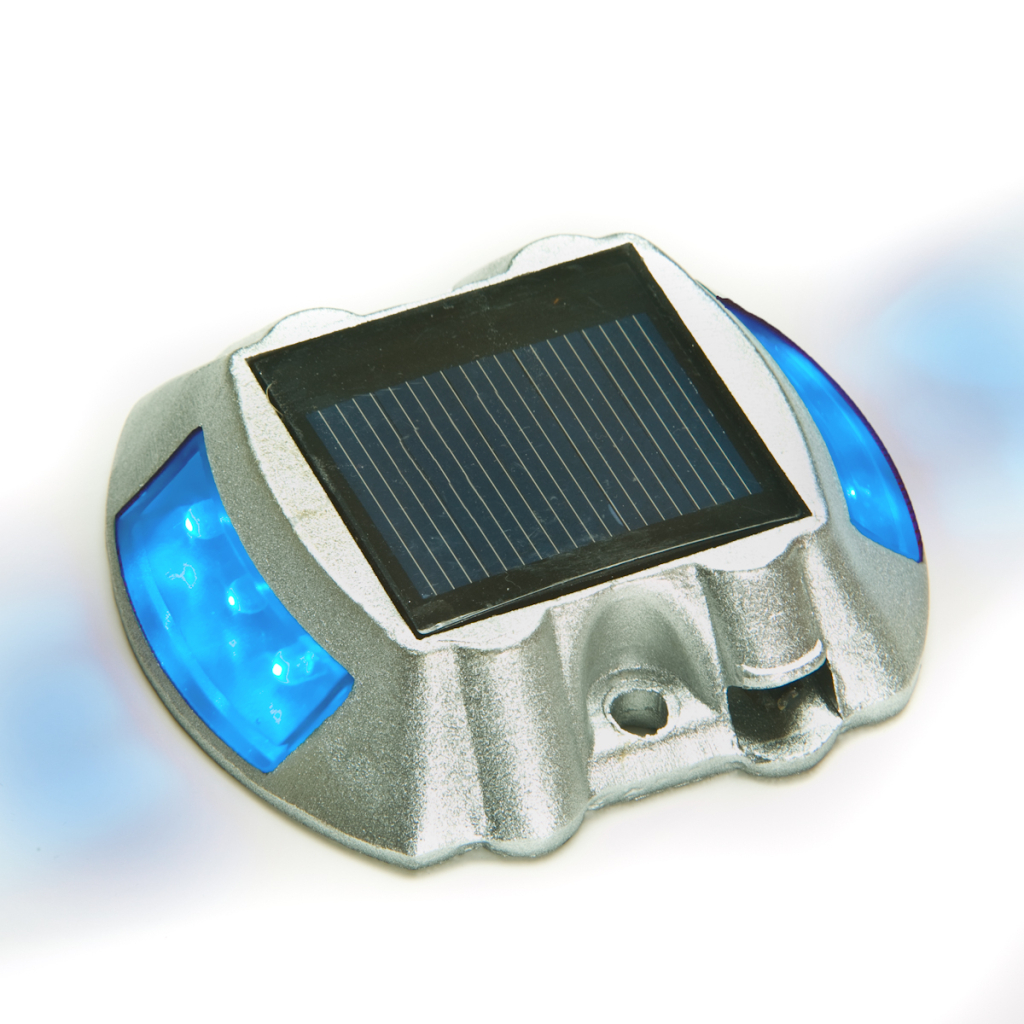 36 X Solar Powered Blue LED Boat Dock Road Stud Lights