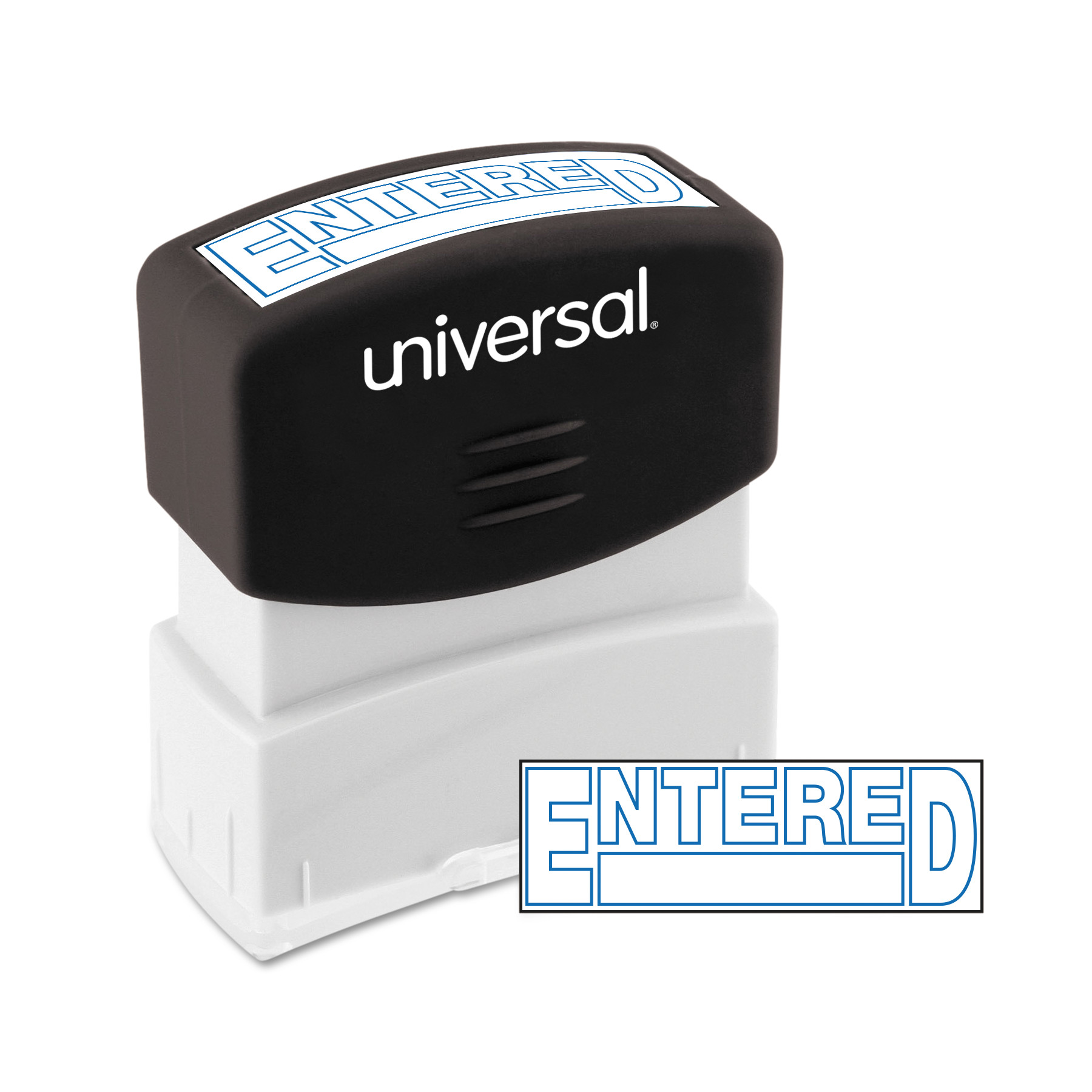 Universal Message Stamp, ENTERED, Pre-Inked One-Color, Blue