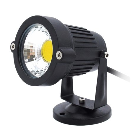 7W COB LED Lawn Lamp with Base DC12-24V Outdoor Landscape Light Spot Light IP65 Water Resistance for Garden Patio Yard Courtyard White ()