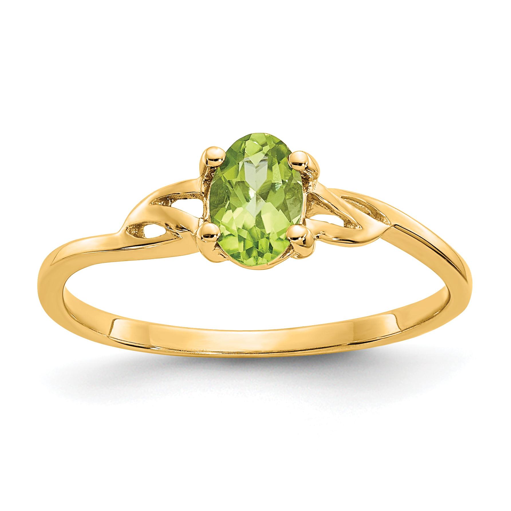 14k Peridot Birthstone Ring by Saris and Things QG