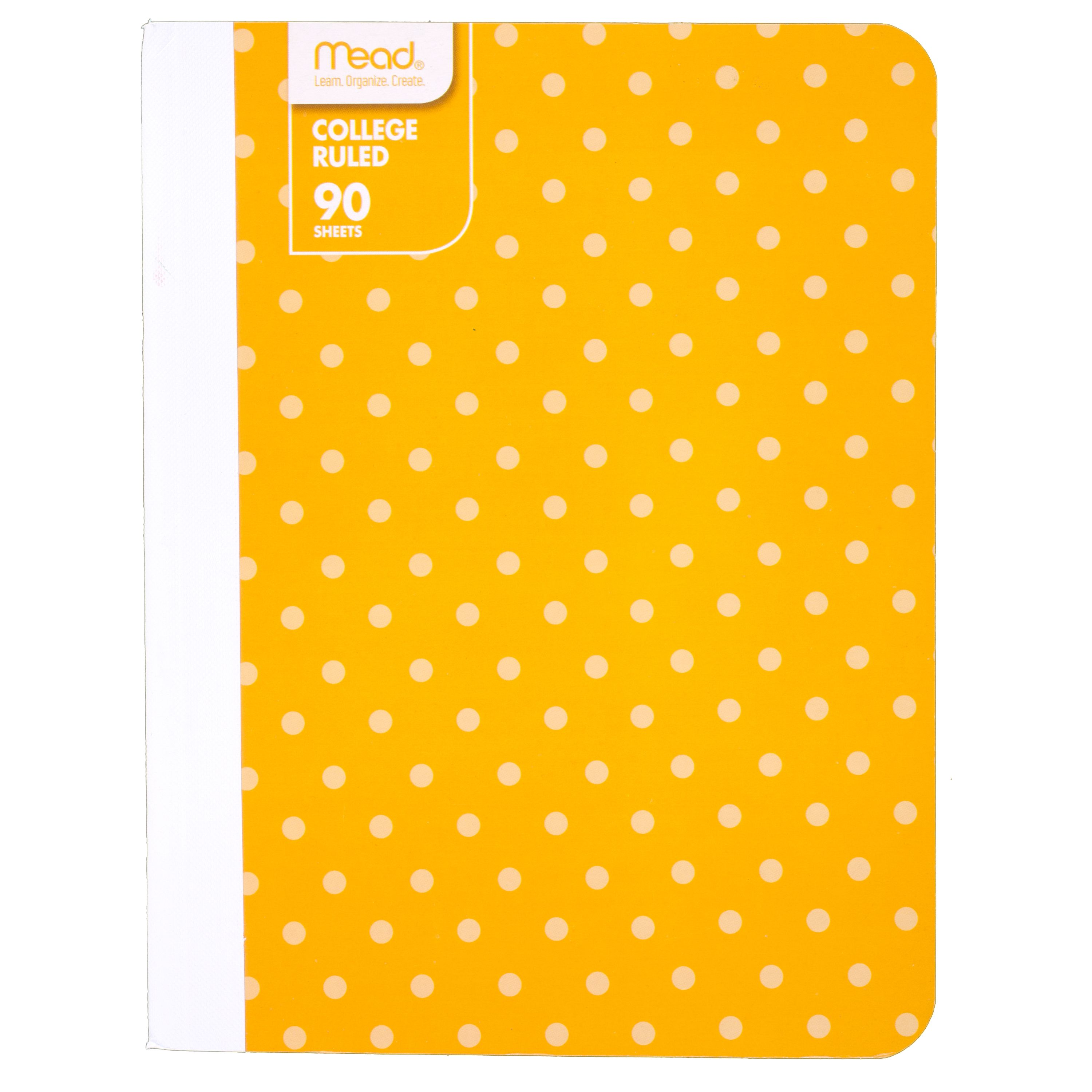 Mead Fashion Composition Book, Yellow Dots