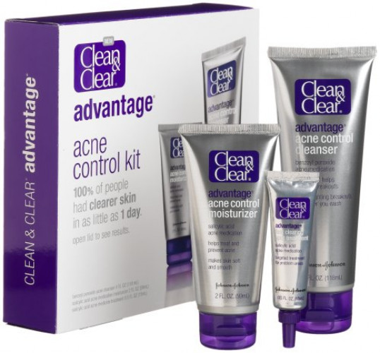 12 PACKS : Clean & Clear Advantage Acne Control Kit Sisley - Radiant Glow Express Mask With Red Clays - Intensive Formula -60ml/2.3oz