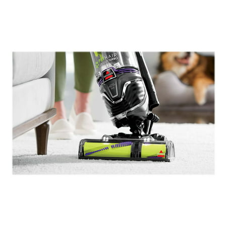 BISSELL Pet Hair Eraser Turbo Plus 2281 - Vacuum cleaner - upright - bagless - grapevine purple/electric green