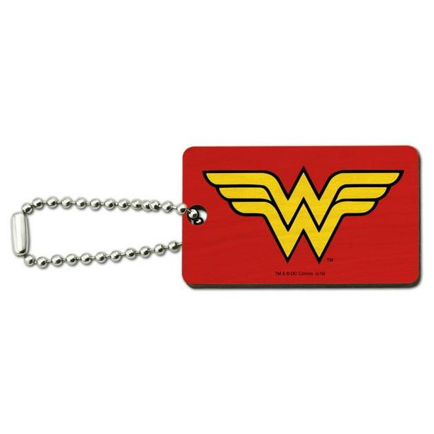 Wooden Wonder Woman Keychain