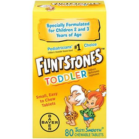 4 Pack - Flintstones Toddler Chewable, 80 Count Each (Flintstones Sassy)