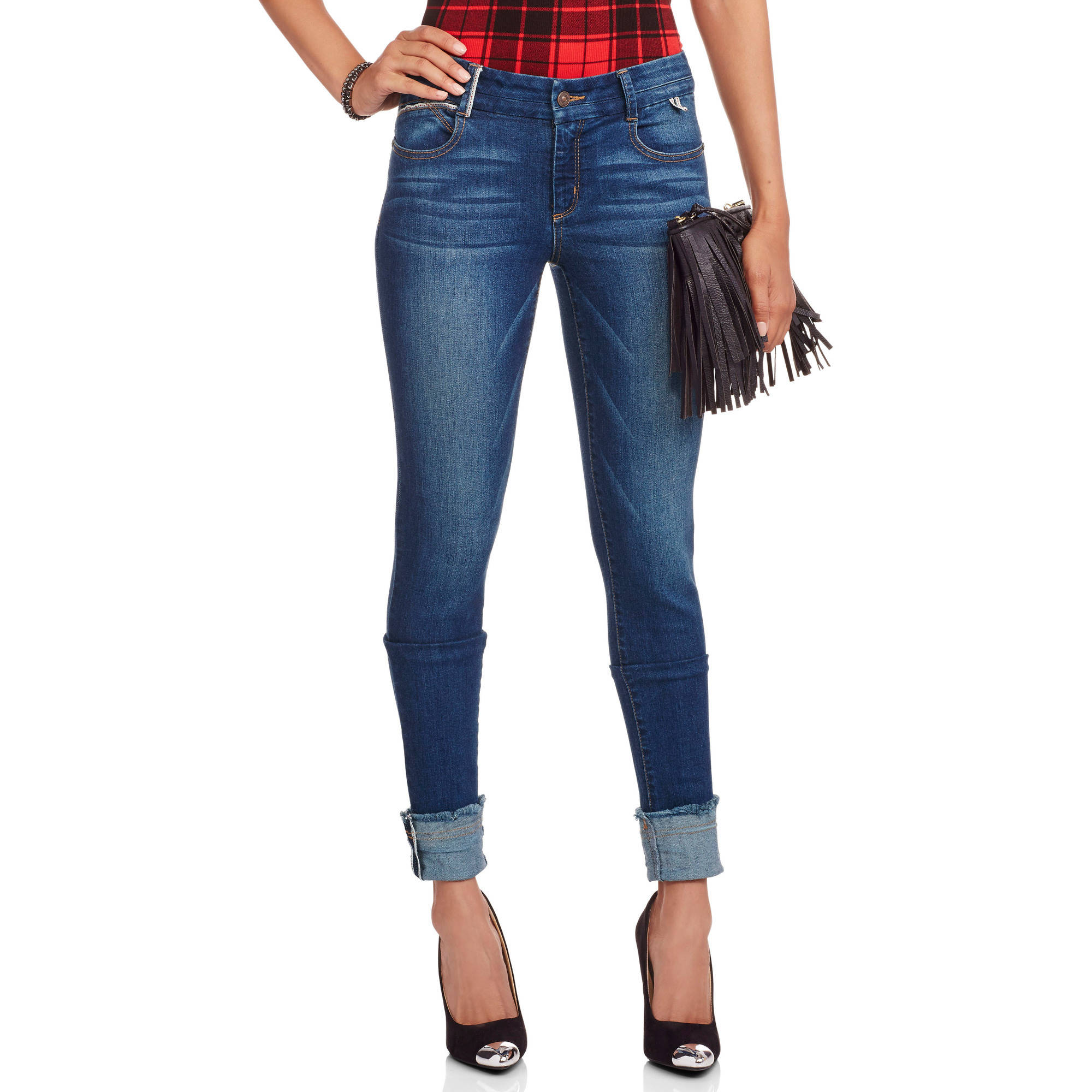 Juniors' Contemporary Cuffed Skinny Jeans