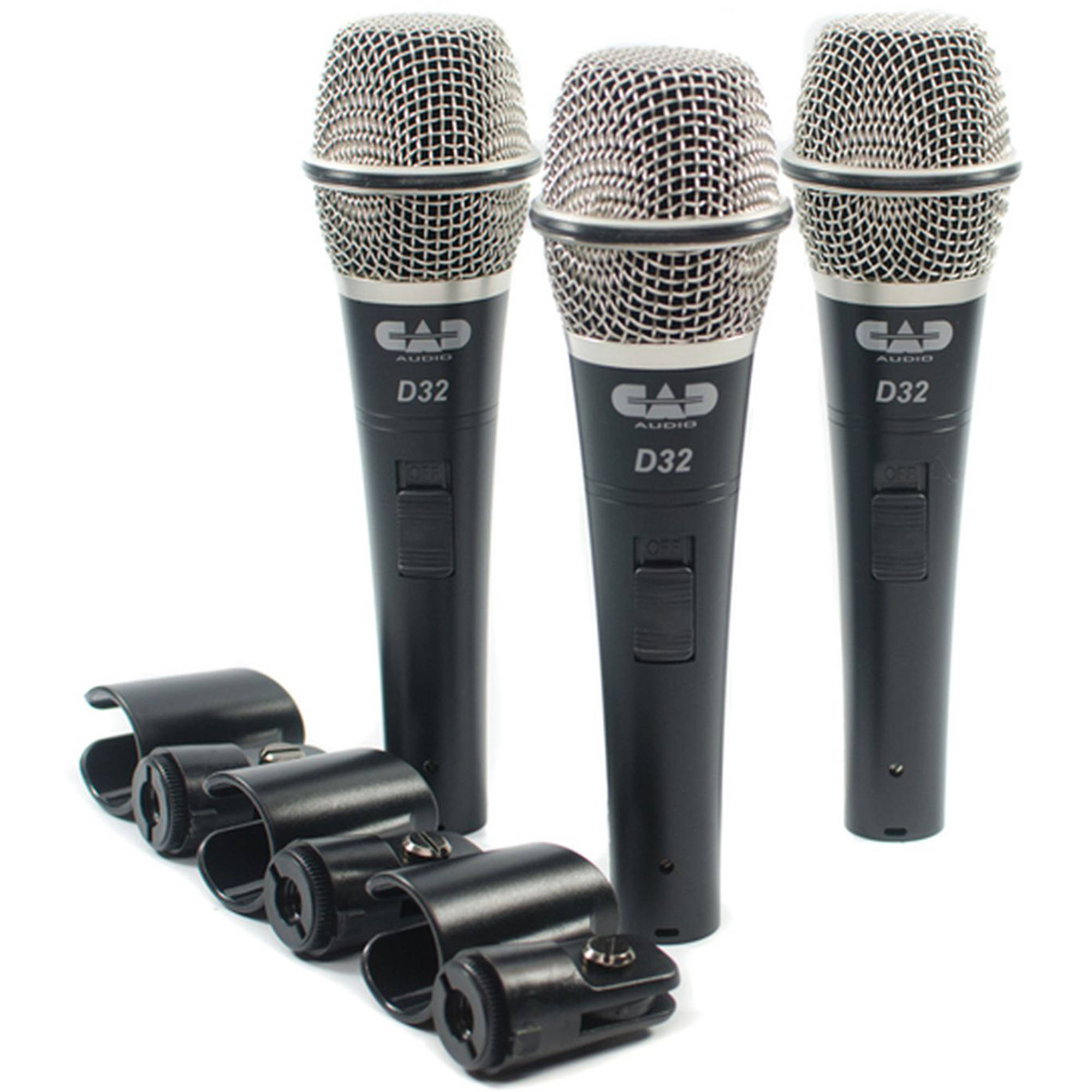 Supercardioid Dynamic Vocal Microphone, 3 Pack
