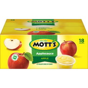 Mott's Applesauce, 4 oz cups, 18 count