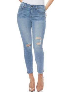 Sofia Jeans by Sofia Vergara Rosa Curvy High Waist Destructed Ankle Jeans, Women's