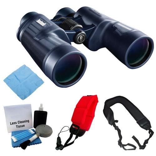 Bushnell H2O 8x42mm Porro Prism Binocular + Foam Float Strap + Accessory Bundle