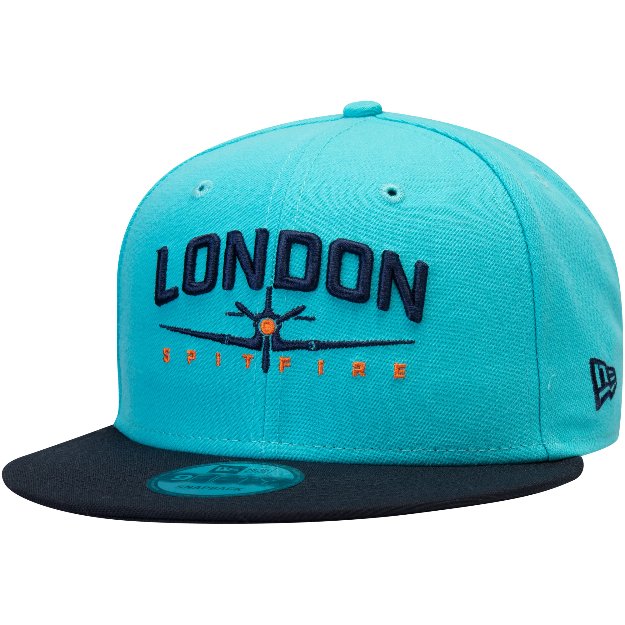 London Spitfire Overwatch League New Era Two-Tone Team Snapback Adjustable Hat - Light Blue - OSFA