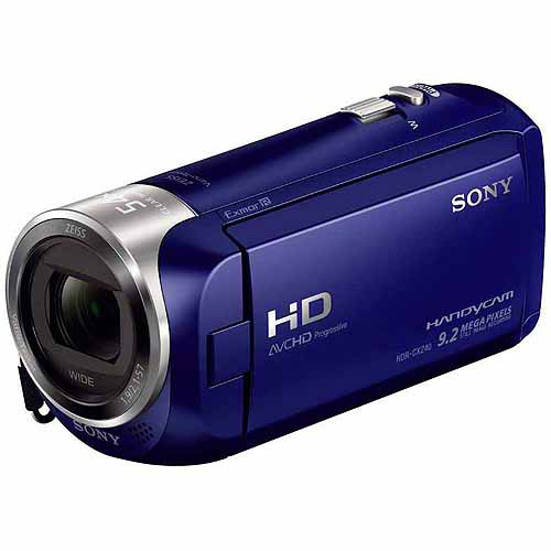 """Sony HDR-CX240/L Blue HD Camcorder with 27x Optical Zoom, 2.7"""" LCD and SteadyShot Image Stabilization"""