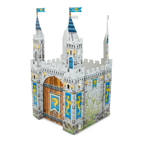 Castle Playhouse (Melissa & Doug Medieval Castle Indoor Corrugate Playhouse (Over 5 Feet)