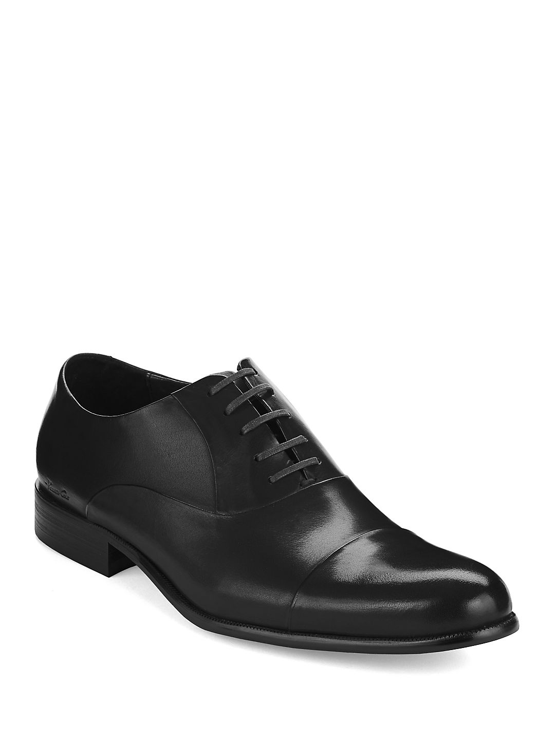 Chief Council Leather Cap-Toe Oxfords