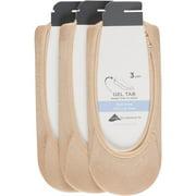 Peds Ladies Ballerina Cut Liner With Gel Tab, 3 Pairs