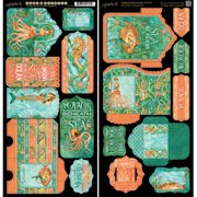 """Voyage Beneath The Sea Cardstock Die-Cuts, 6"""" x 12"""" Sheets, 2pk, Tags and Pockets"""