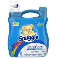 Snuggle Sea Breeze, 90 Loads, Liquid Fabric Softener SuperCare, 95 fl oz