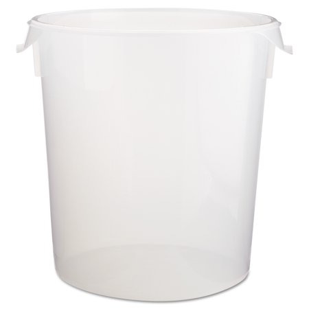 Rubbermaid Commercial Round Storage Containers, 22qt, 13 1/8dia x 14h, Clear - Round Storage Bins