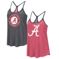 Alabama Crimson Tide Colosseum Women's Clearly Inside Reversible Tank Top - Heathered Crimson/Heathered Black