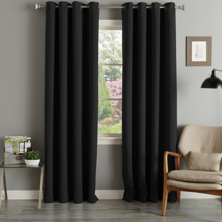 Aurora Home Grommet Top Thermal Insulated 96 Inch Blackout Curtain Panel Pair 52 X