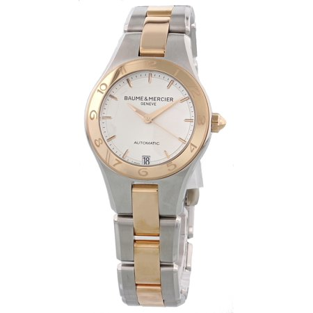 18k Ladies Watch (Baume & Mercier Linea 18K Rose Gold & Steel MOA10073 Automatic Ladies Watch )