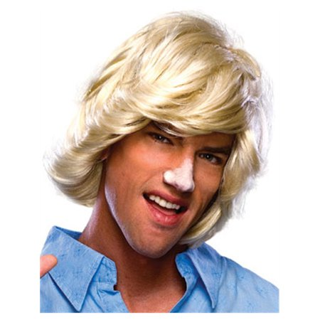 Adult Mens Blonde 70s 80s Surfer Dude Beach Bum Wig - 70s Mens Wig