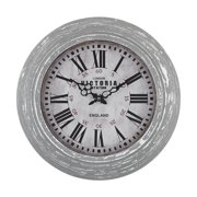 Sterling Industries Victoria Station Clock, Distressed Aged Grey - 171-002