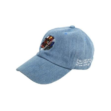 Entree Misunderstood Denim Embroidered Dad Hat (Idee Entree Halloween)