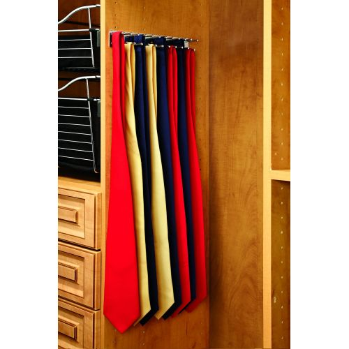 Rev-A-Shelf TRC-12NS TRC Series 12 Inch Side Mount Static Tie Rack for Up to 23