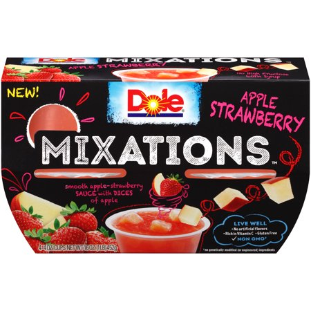 Dole Fruit Bowls, Mixations Apple Strawberry, 4 Ounce (4 Cups) - Fruit Of The Sea