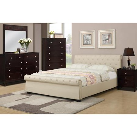 Poundex Galanta 4 Piece Bedroom Set With Matching