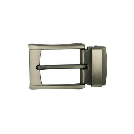 Nickel Free Clasp (Gun Metal Nickel Free 1 1/4 Inch (34 mm) Clamp Belt Buckle)