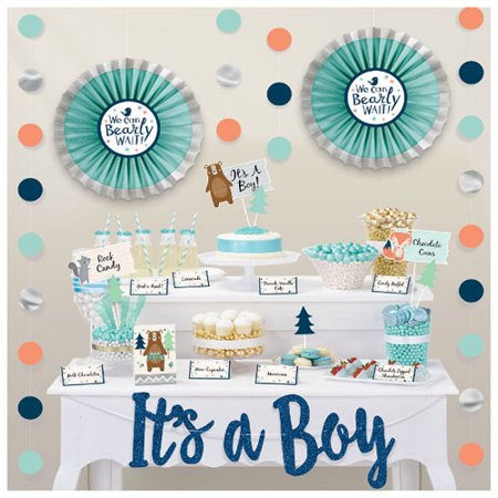 Baby Shower 'We Can Bear-ly Wait' Deluxe Buffet Decorating Kit (23pc) - Care Bear Baby Shower