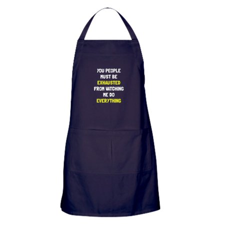 CafePress - Exhausted - Kitchen Apron with Pockets, Grilling Apron, Baking Apron