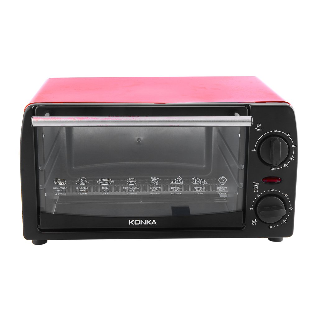 12-Inch Compact Convection Countertop Oven - Contour Red