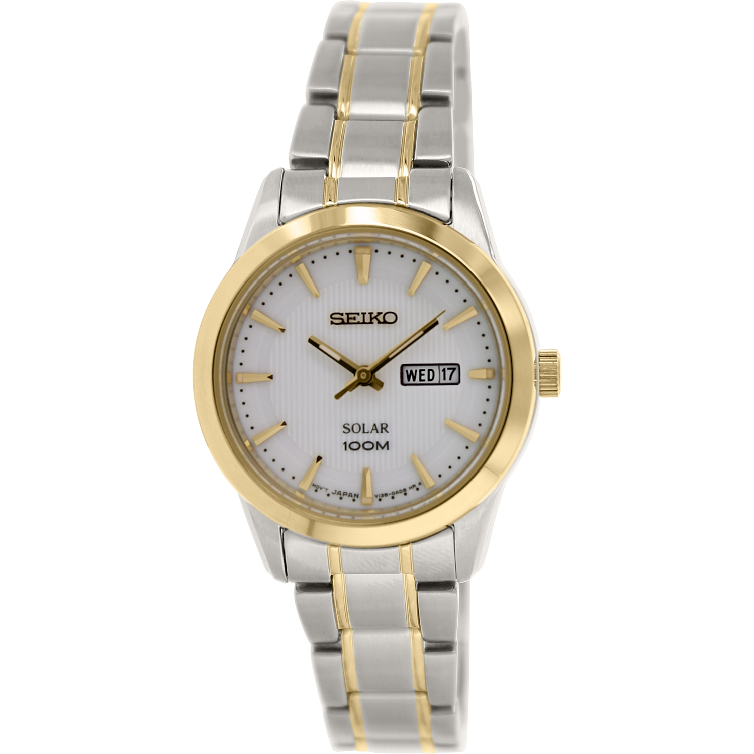 Seiko Women's SUT162 Silver Stainless-Steel Plated Japanese Quartz Fashion Watch