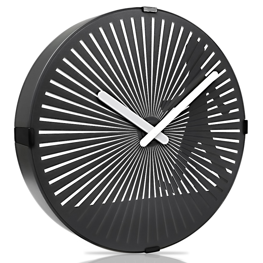 Betus Nonticking 12 Inches Decorative Wall Clock Novelty Black