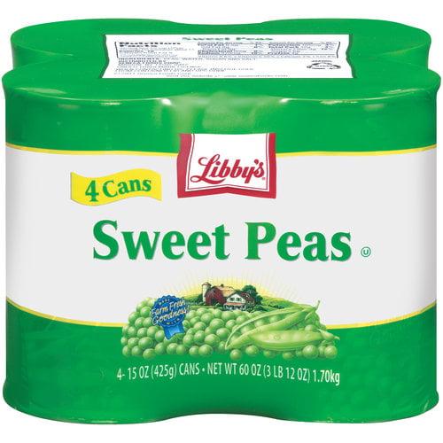 Libby's Sweet Peas, 15 oz, 4 ct