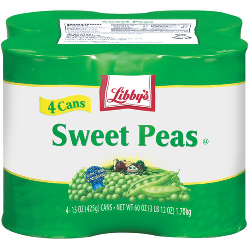 Libby's Sweet Peas, 15 oz, 4 ct