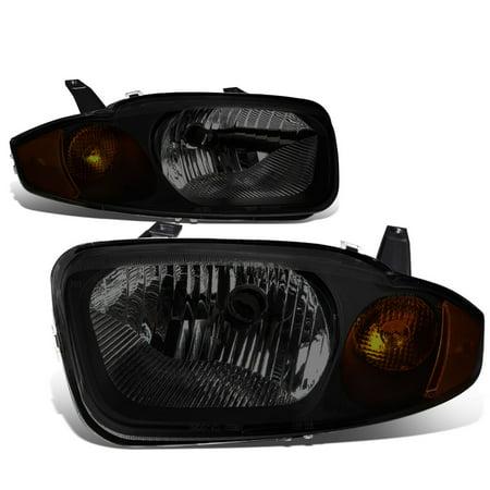 For 03 05 Chevy Cavalier Pair Of Headlight Lamp  Smoked Lens Amber Corner  3Rd Gen